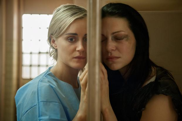 Taylor Schilling and Laura Prepon in Orange is the New Black.