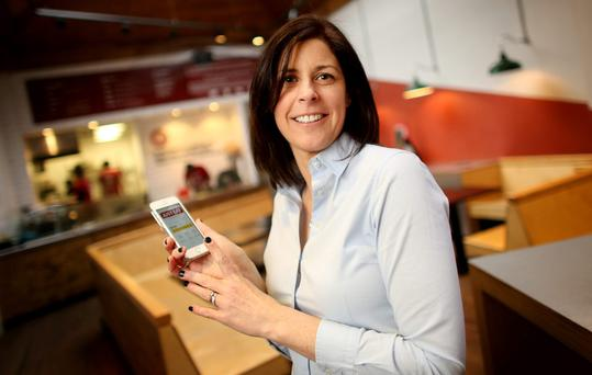Amanda Roche Kelly, country manager for Ireland, uses the justeat.ie app