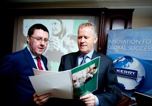 Pictured is Brian Mehigan, Chief Financial Officer & Stan McCarthy , Kerry Group Chief Executive at the launch of the Kerry Group Interim Management Report for the half year ended 30 June2015. The Group reported a solid financial performance for the half y