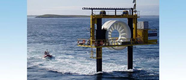 An example of an OpenHydro tidal turbine