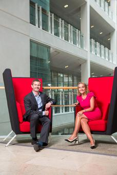 Liam O'Brien, head of enterprise product management, and Anne Sheehan, director of enterprise, Vodafone Ireland
