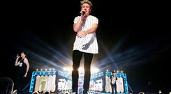 Niall Horan on stage with One Direction