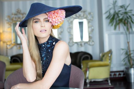 Top model Sarah Morrissey launches the Dylan Hotel's 'Best Hat' competition. The competition will run on Thursday, 8th August in the Dylan Hotel after the Blossom Hill Ladies Day at The Dublin Horse Show. Hat lovers are encouraged to pre-register online through the Dylan Hotel's Facebook page www.facebook.com/dylanhotel before Friday, 2nd August 2013.Photo: Anthony Woods