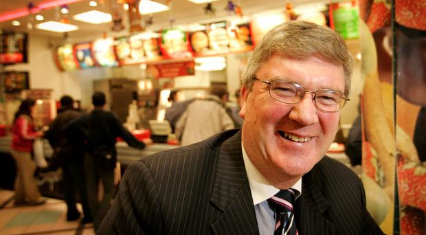 Pat McDonagh inside the O'Connell Street branch of Supermacs