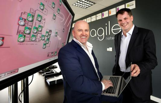 Sean Gallagher and Darragh Richardson at Agile Network's HQ