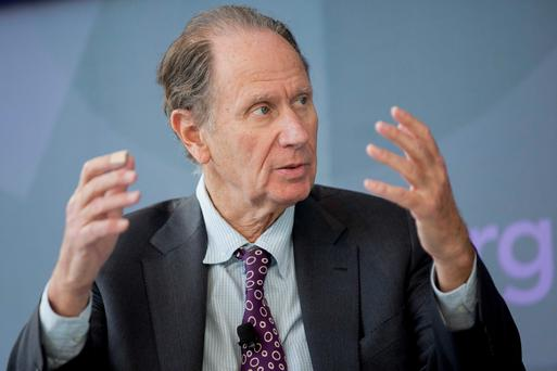 David Bonderman, founding partner of TPG Capital, speaks during a panel discussion at the Bloomberg Year Ahead: 2015 conference in Washington, D.C., U.S., on Friday, Nov. 14, 2014. Photographer: Andrew Harrer/Bloomberg