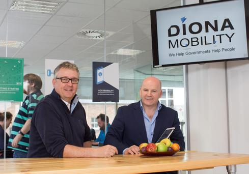 Graham Stubbs of Diona Technologies with Sean Gallagher. Photo: Fergal Philips