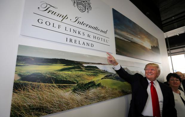 US Presidential hopeful Donald Trump on a recent visit to the five-star property in Co Clare, which has been rebranded as the Trump International Golf Links and Hotel Ireland