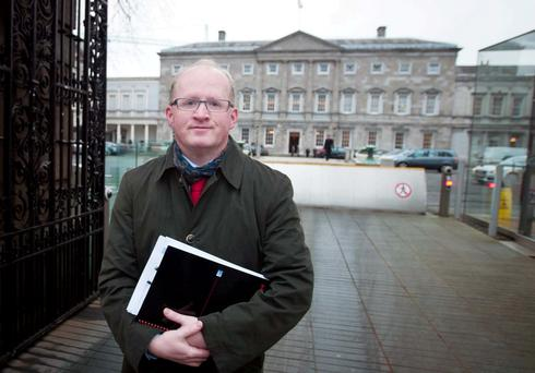 Dr Philip Lane, governor of the Central Bank of Ireland, outside Leinster House last week