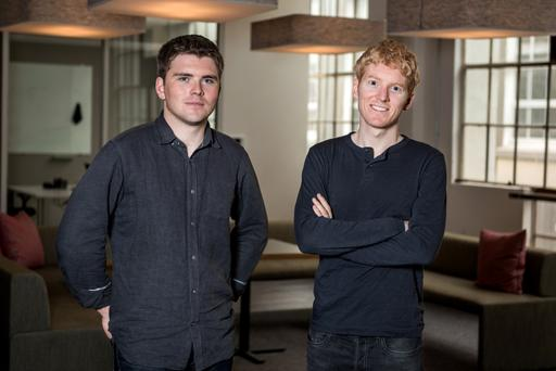 John and Patrick Collison. 'Here at Stripe, we emphasise that people should not be valuation-focused — because we have so many other better metrics that we can track. Like how many customers we're serving, or how happy those customers are, or revenue or profits,' says John. Photo: Dai-Lon Weiss