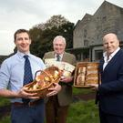 Robert and Bill Mosse of Kells Wholemeal with Sean Gallagher at the mill in Bennettsbridge, Co Kilkenny. Photo: Tony Gavin