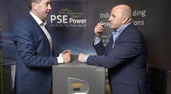 Padraig Smith and Sean Gallagher at PSE Power's HQ in Newcastle West, Co Limerick