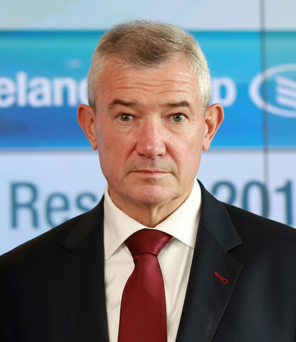 Richie Boucher of BoI, whose trading update got very little media attention, despite prompting Goodbody Stockbrokers to reduce earnings estimates for 2015 by 4pc and by 6pc for 2016