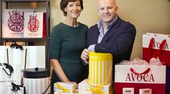 Vicki O'Toole, managing director of JJ O'Toole Packaging, with Sean Gallagher. Photo: Tony Gavin