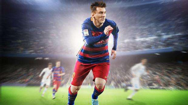 Barcelona superstar Lionel Messi, pictured in video game action in the popular FIFA 16 game