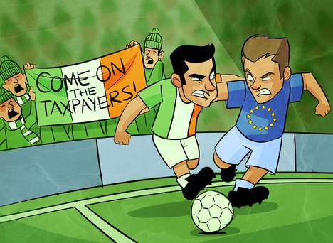 Funny football banners - you'll never beat the Irish!