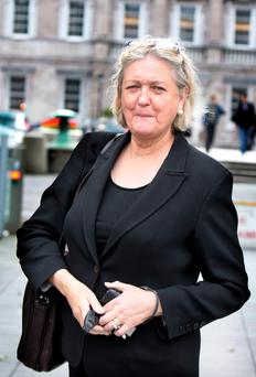 Fianna Fail Senator Mary White at Leinster House yesterday.Pic Tom Burke 9/6/10
