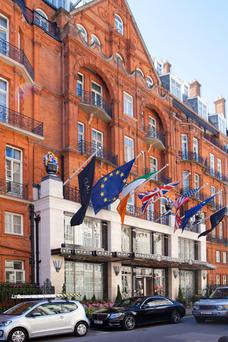 The luxury Claridge's Hotel in London, which is part of the Maybourne group.