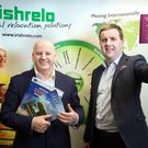 Sean Gallagher with Paul Coy at the Irishrelo offices in Kilcock, Co Kildare. Photo: Tony Gavin