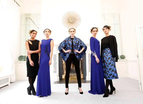 Models in some of Louise Kennedy's autumn/winter collection