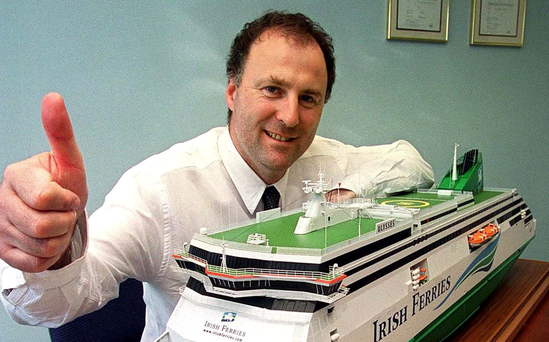 ICG boss Eamonn Rothwell has seen shares at the ferry company soar over the past year Photo: Mac Innes