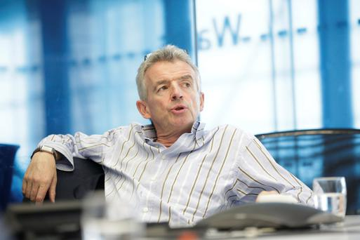 Michael O'Leary was named best CEO for a second consecutive year. As one analyst said: 'For Ryanair, it's like Christmas every month.' Photo: Matthew Lloyd/Bloomberg