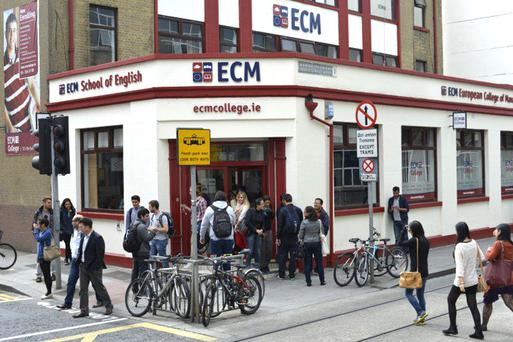 The ECM College in Dublin city centre, and inset, Michael Tunney.