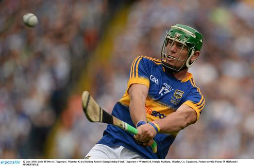 John 'Bubbles' O'Dwyer strikes a crucial free for Tipperary in the 2014 All-Ireland hurling final which Hawk Eye deemed wide. The match has since been dubbed The Hawk Eye Final.