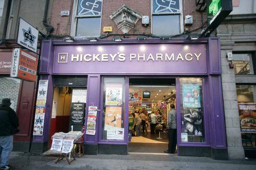 Revenues rose by 2pc to €23.5m last year at Hickey's Pharmacy. Photo: Arthur Carron/Collins