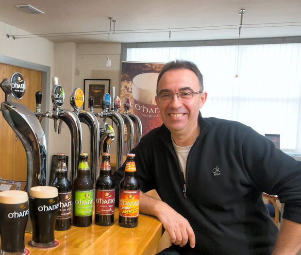 Seamus O'Hara, managing director of the Carlow Craft Brewery, is targeting both the domestic and export markets. Photo: Patrick Browne
