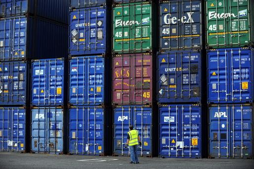 Exports hit 13.3 tonnes, with imports rising to 19.5m tonnes. Photo: Aidan Crawley/Bloomberg