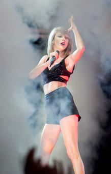 Taylor Swift during the