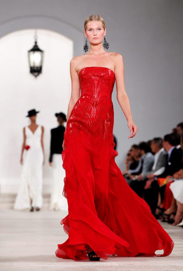 A Ralph Lauren dress on the catwalk in New York. The company had global revenues of $7.1bn last year. Photo: Reuters