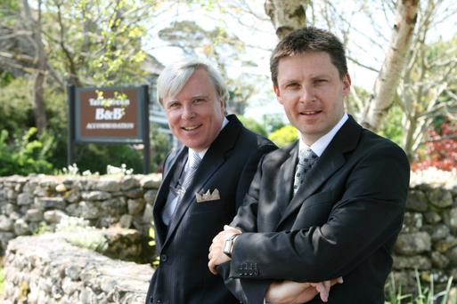 Hotelier John Brennan, right, with his brother Francis