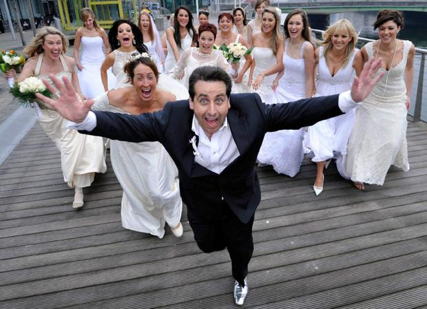 Wedding planner Peter Kelly, whose company saw a four-fold increase in profits last year, on a photo shoot for the 'Brides of Franc' TV show on RTE