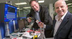 Crest Solutions CEO Frank Madden with Sean Gallagher. Photo: Michael Mac Sweeney