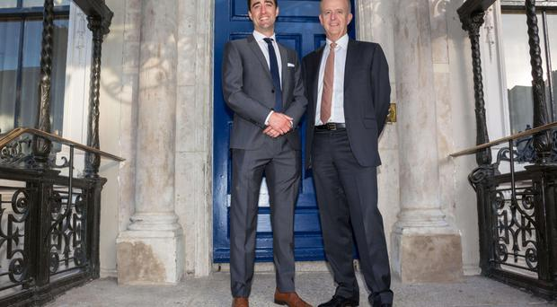 Darren Ryan (left) CEO of SEI with Tommy Breen, CEO of DCC