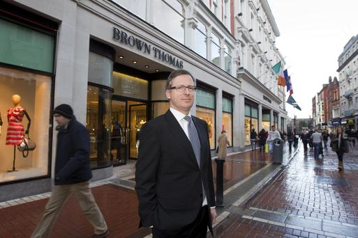 Stephen Sealey, managing director of Brown Thomas, outside the flagship store on Grafton Street