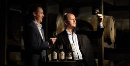 Teeling Whiskey Comany CEO Jack Teeling and Sean Gallagher do a tasting. Photo: David Conachy