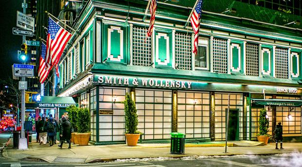 Smith and Wollensky, on 49th Street in New York, does a roaring trade, particularly for its signature steaks, which sell for around $50