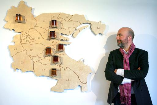 Gearóid Carvill of the Dublin Honey Project is trying to produce Irish black bee honey from each of the Dublin postcodes. Photo: Mark Stedman / Photocall