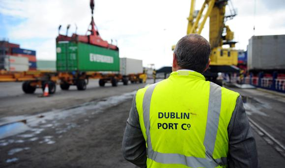 Imports up by 6pc as exports climb by 7.9pc in first quarter. Photo: Bloomberg