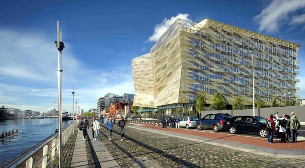 Digital images of North Wall Quay - new Central Bank building