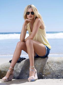 A model poses for a Dorothy Perkins summer collection