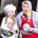 Budding young chef Juneau Conroy launches SuperValu's new 'Getting Ireland Cooking' campaign alongside the brand's celebrity food ambassador Martin Shanahan