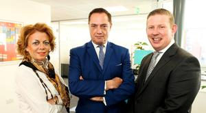 From left, Bartra Capital's development and construction director Grainne Hollywood, Bartra founder Richard Barrett and chief executive officer Mike Flannery
