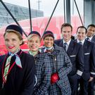 Members of Norwegian airline's long haul crew.
