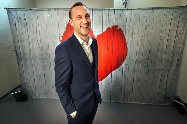 Maitre D' Mateo Saina during the filming of RTE's new show First Dates. Photo: Tony Gavin