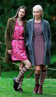 Models displaying a winter collection by Avoca