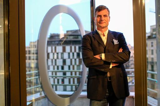Ronan Dunne, chief executive officer of Telefonica O2 UK, poses for a photograph before a Bloomberg TV interview in February. Photo: Bloomberg